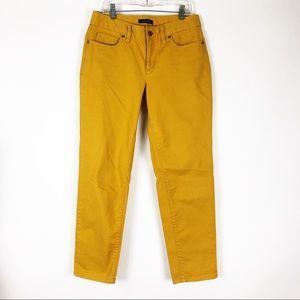 Lands' End | 2 | Yellow Fit 2 High Rise Crop Jeans